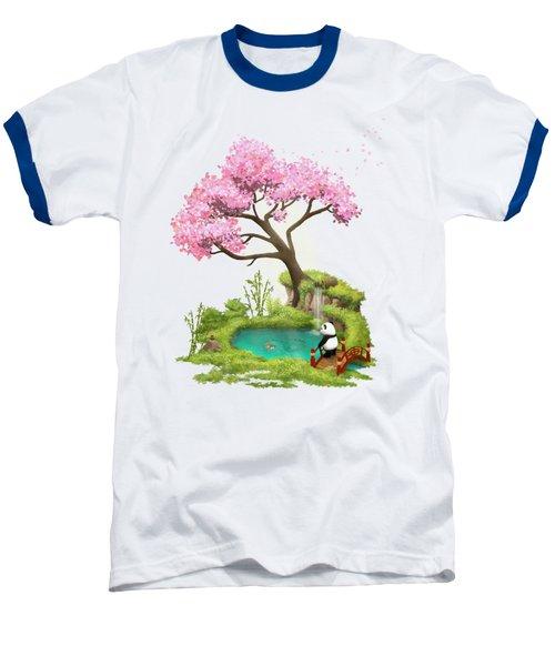 Anjing II - The Zen Garden Baseball T-Shirt by Carlos M R Alves