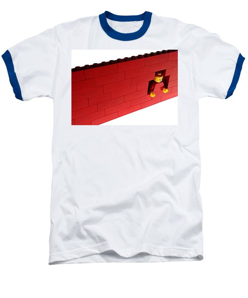 Baseball T-Shirt featuring the photograph Another Brick In The Wall by Mark Fuller