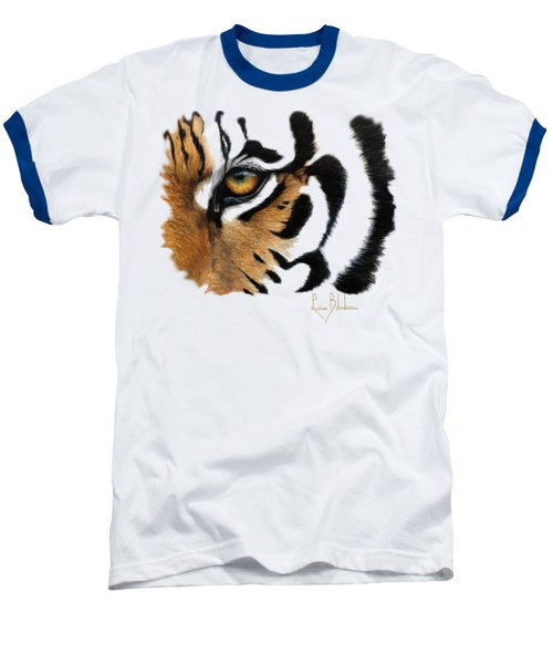 Tiger Eye Baseball T-Shirt by Lucie Bilodeau