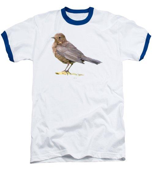 Young Blackbird  Baseball T-Shirt by Bamalam  Photography