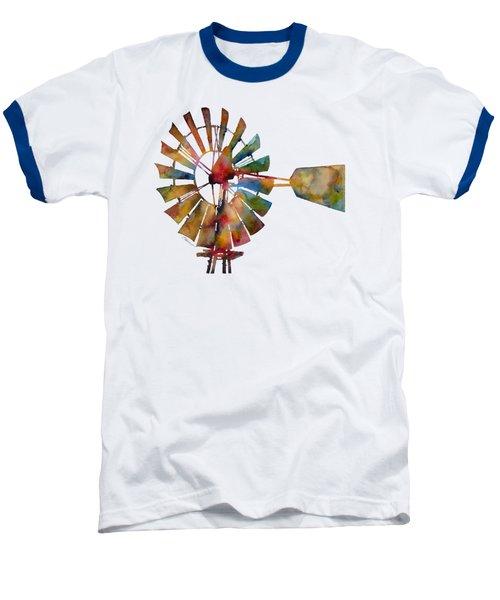 Windmill Baseball T-Shirt by Hailey E Herrera