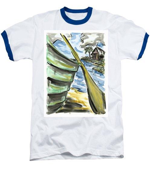 Baseball T-Shirt featuring the painting Ashore by Robert Joyner