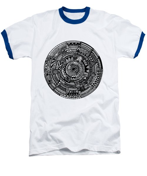 Asymmetry Baseball T-Shirt by Elizabeth Davis