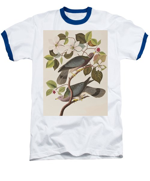 Band-tailed Pigeon  Baseball T-Shirt by John James Audubon