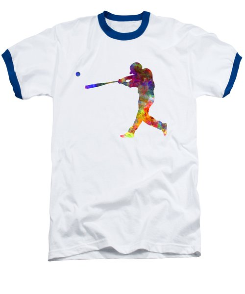 Baseball Player Hitting A Ball 02 Baseball T-Shirt by Pablo Romero