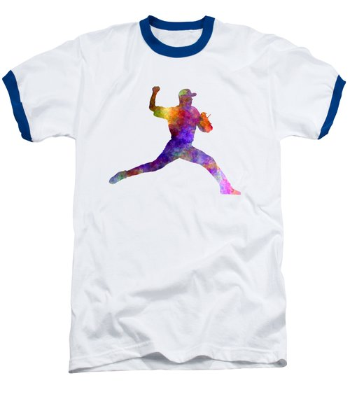 Baseball Player Throwing A Ball 01 Baseball T-Shirt by Pablo Romero