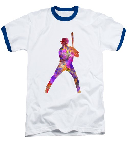 Baseball Player Waiting For A Ball Baseball T-Shirt by Pablo Romero