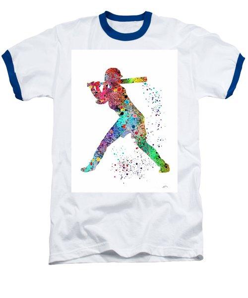 Baseball Softball Player Baseball T-Shirt by Svetla Tancheva