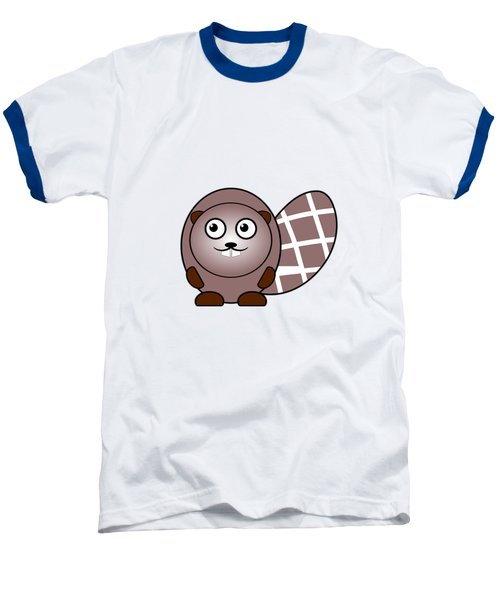 Beaver - Animals - Art For Kids Baseball T-Shirt by Anastasiya Malakhova