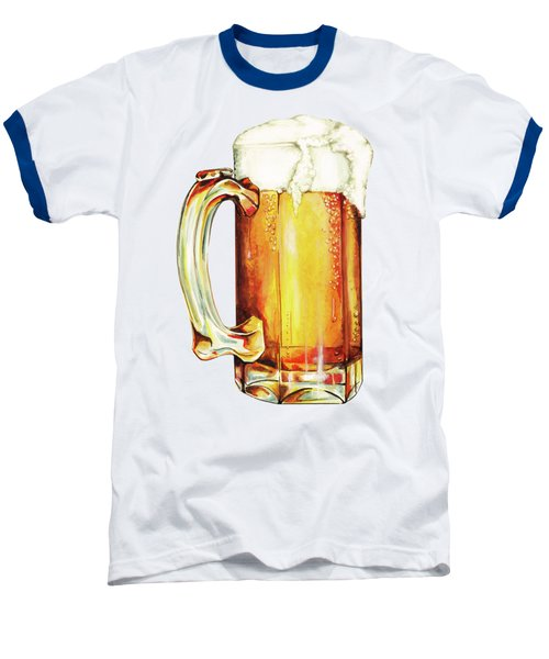 Beer Pattern Baseball T-Shirt by Kelly Gilleran