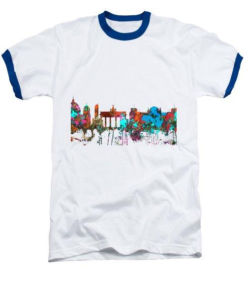 Berlin Germany Skyline  Baseball T-Shirt by Marlene Watson