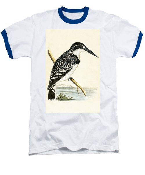 Black And White Kingfisher Baseball T-Shirt by English School