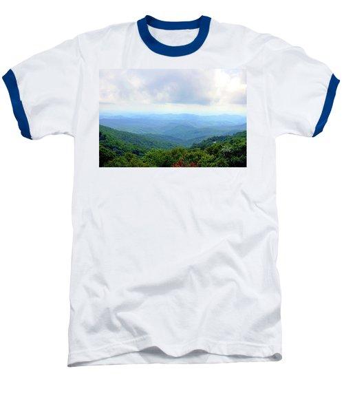 Baseball T-Shirt featuring the photograph Blue Ridge Parkway Overlook by Meta Gatschenberger