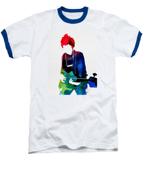 Bob Watercolor Baseball T-Shirt by Naxart Studio