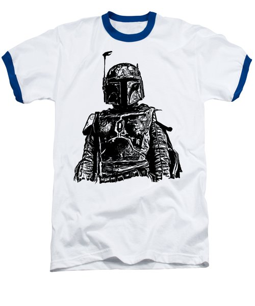 Boba Fett From The Star Wars Universe Baseball T-Shirt by Edward Fielding
