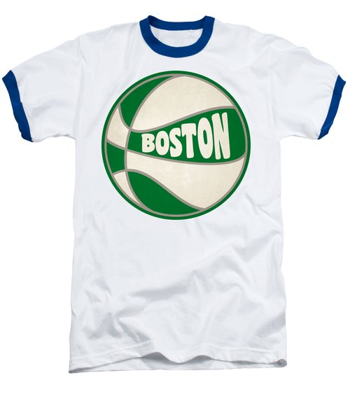 Boston Celtics Retro Shirt Baseball T-Shirt by Joe Hamilton