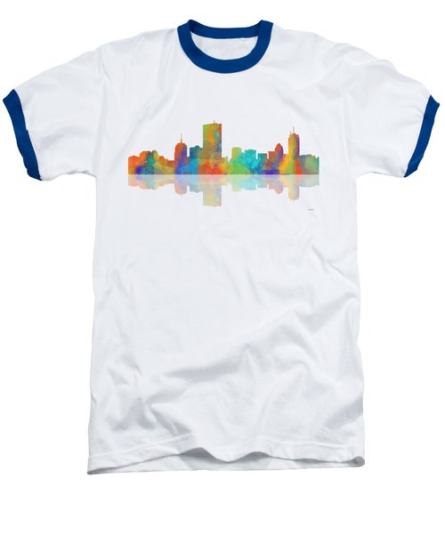 Boston Ma. Skyline Baseball T-Shirt by Marlene Watson
