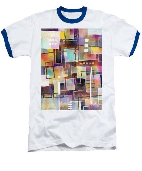 Baseball T-Shirt featuring the painting Bridging Gaps 2 by Hailey E Herrera