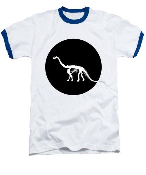 Brontosaurus Skeleton Baseball T-Shirt by Mordax Furittus