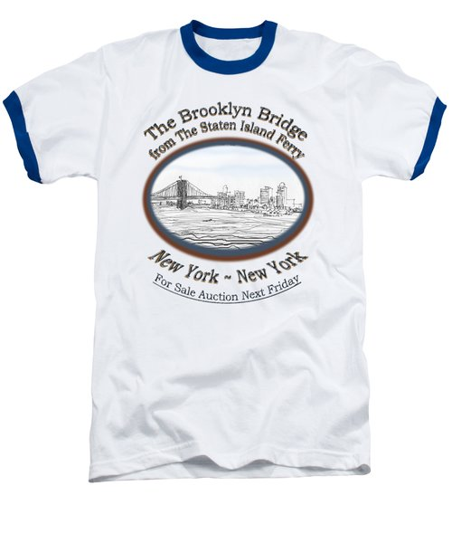Brooklyn Bridge Baseball T-Shirt by James Lewis Hamilton