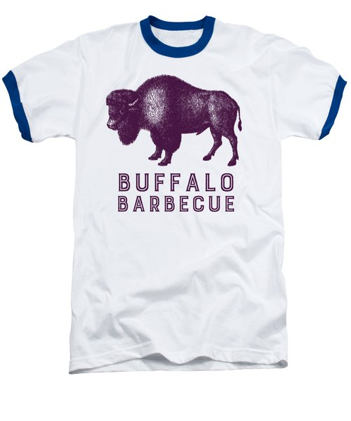 Buffalo Barbecue Baseball T-Shirt by Antique Images