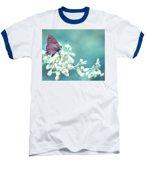 Baseball T-Shirt featuring the photograph Buterfly Dreamin' by Mark Fuller