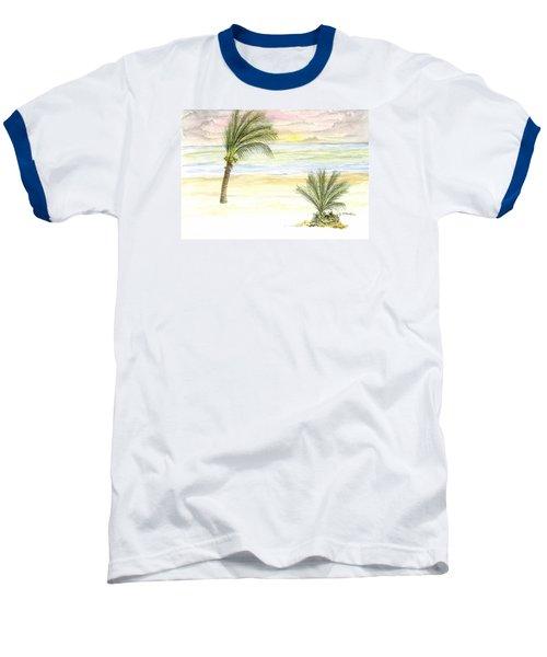 Baseball T-Shirt featuring the digital art Cayman Beach by Darren Cannell