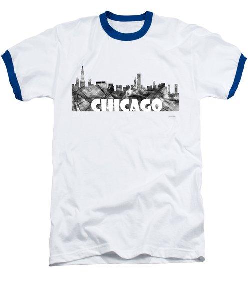 Chicago Illinios Skyline Baseball T-Shirt by Marlene Watson