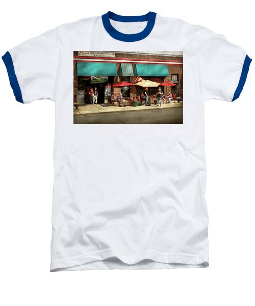 Baseball T-Shirt featuring the photograph City - Edison Nj - Pino's Basket Shop by Mike Savad
