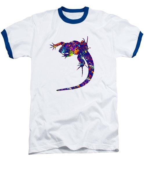Colourful Lizard -2- Baseball T-Shirt by Bamalam  Photography