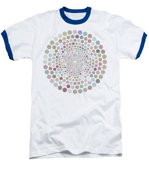 Baseball T-Shirt featuring the painting Vortex Circle - White by Hailey E Herrera