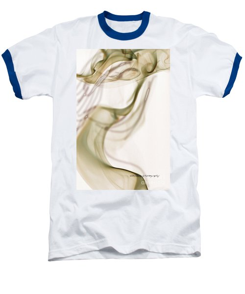 Baseball T-Shirt featuring the photograph Coy Lady In Hat Swirls by Vicki Ferrari
