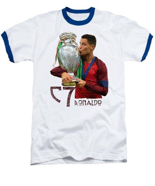 Cristiano Ronaldo Baseball T-Shirt by Armaan Sandhu