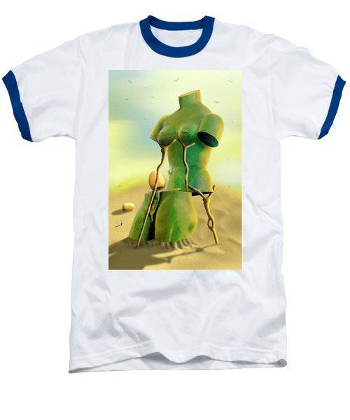 Crutches 2 Baseball T-Shirt by Mike McGlothlen