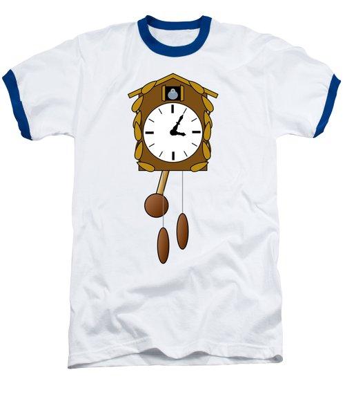 Cuckoo Clock Baseball T-Shirt by Miroslav Nemecek