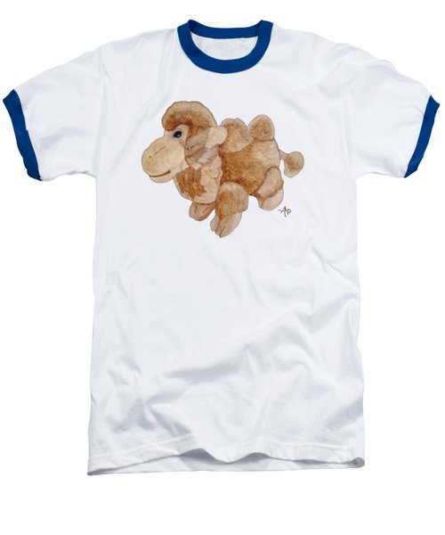 Cuddly Camel Baseball T-Shirt by Angeles M Pomata