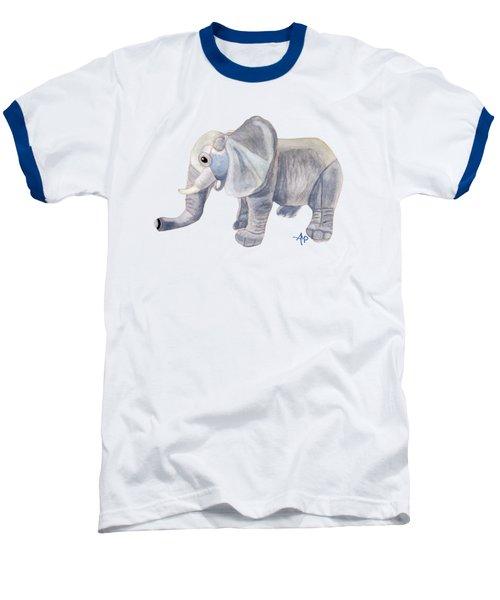 Cuddly Elephant II Baseball T-Shirt by Angeles M Pomata