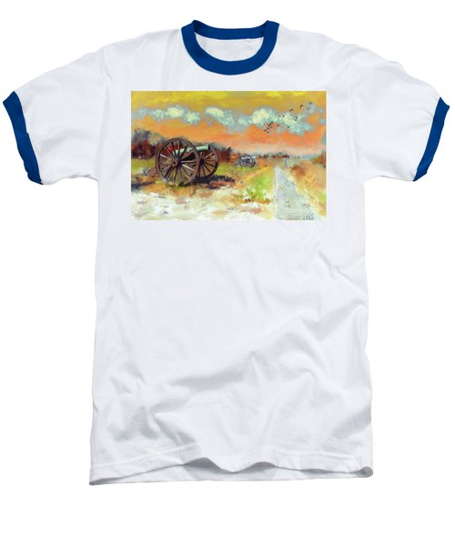 Baseball T-Shirt featuring the photograph Days Of Discontent by Lois Bryan