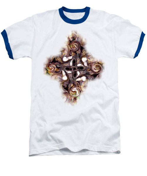 Desert Cross Baseball T-Shirt by Anastasiya Malakhova
