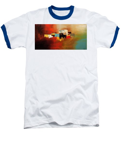 Baseball T-Shirt featuring the painting Du Soleil by Carmen Guedez