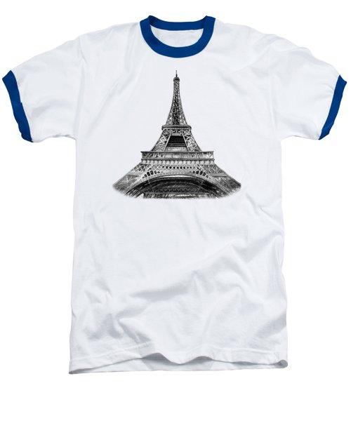 Eiffel Tower Design Baseball T-Shirt by Irina Sztukowski