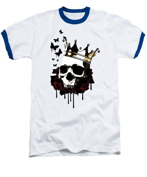 El Rey De La Muerte Baseball T-Shirt by Nicklas Gustafsson