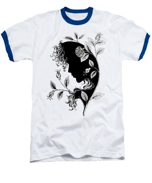 Elf In Roses Baseball T-Shirt by Magdalene's Art