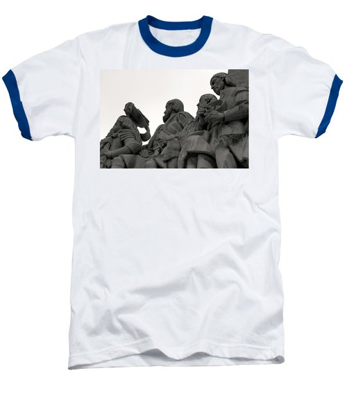 Baseball T-Shirt featuring the photograph Faces Of The Monument by Lorraine Devon Wilke