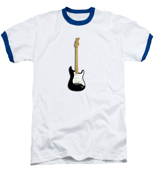 Fender Stratocaster Blackie 77 Baseball T-Shirt by Mark Rogan
