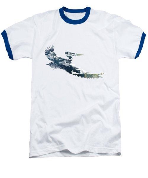 Flying Pelican Baseball T-Shirt by Diana Van