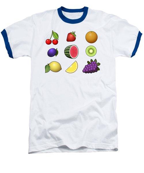 Fruits Collection Baseball T-Shirt by Miroslav Nemecek