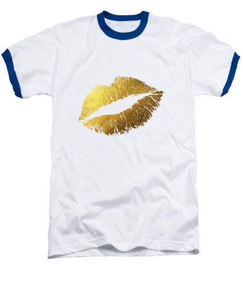 Gold Lips Baseball T-Shirt by BONB Creative