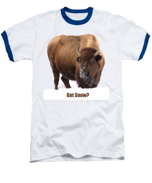 Got Snow? Baseball T-Shirt by Greg Norrell