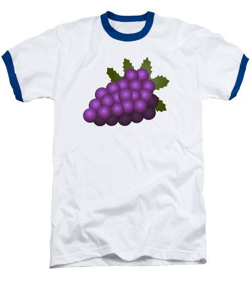 Grapes Fruit Baseball T-Shirt by Miroslav Nemecek